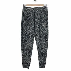 FREE PEOPLE Black Textured Cropped Jogger Pants - Small